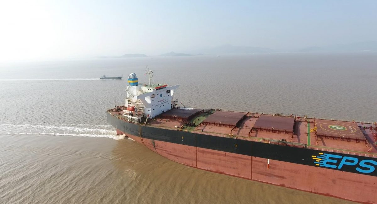 EPS' Capesize vessel Mount Faber is fitted with Exhaust Gas Cleaning System, a fleet first