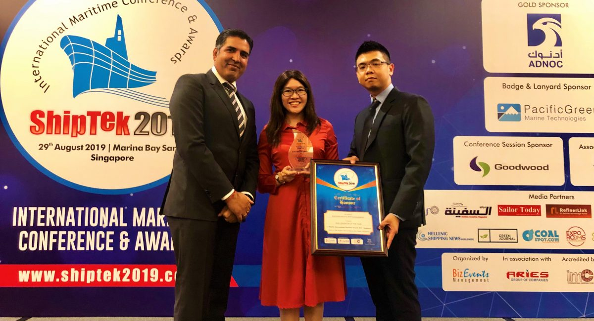 EPS wins ship operator of the year award at ShipTek 2019