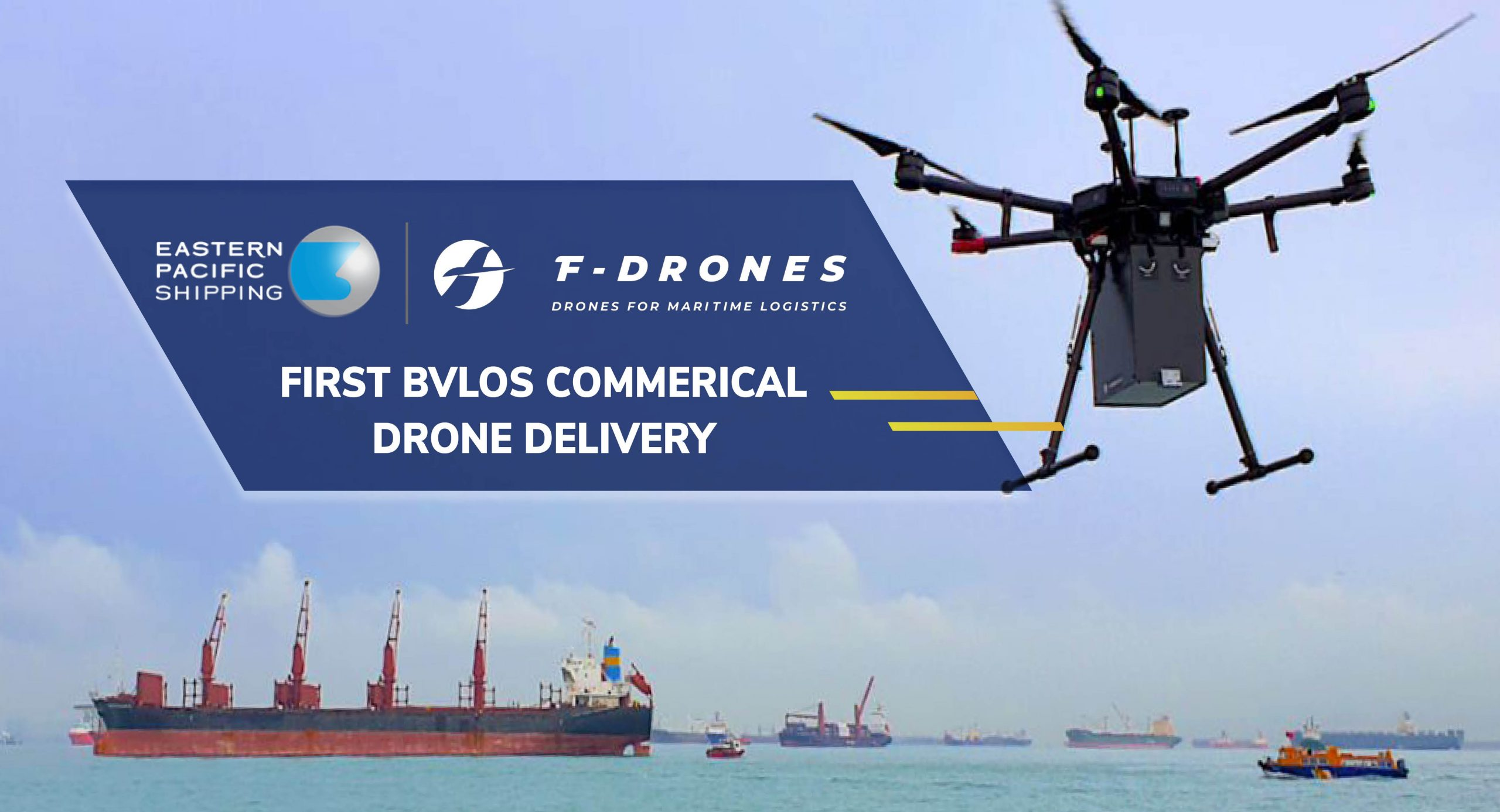 First Commercial Beyond-Visual-Line-of-Sight Drone Delivery (BVLOS) in Singapore