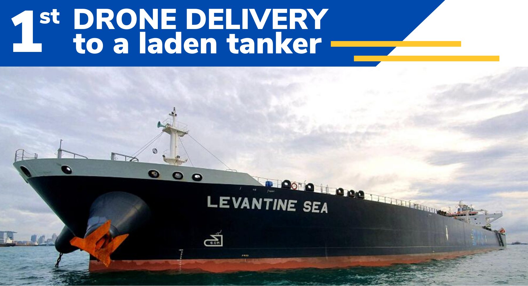 eps and f-drones complete first drone delivery to laden tanker